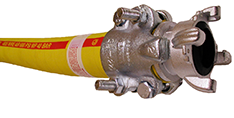 Textile Braid Bull Hose with 4-lug Chicago Coupling