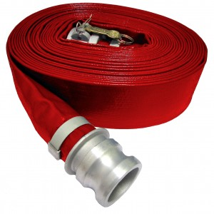 Red HD PVC discharge hose