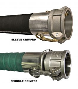 Crimped hose assemblies