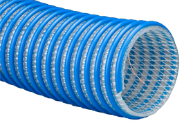 Braided urethane suction and discharge hose with static wire